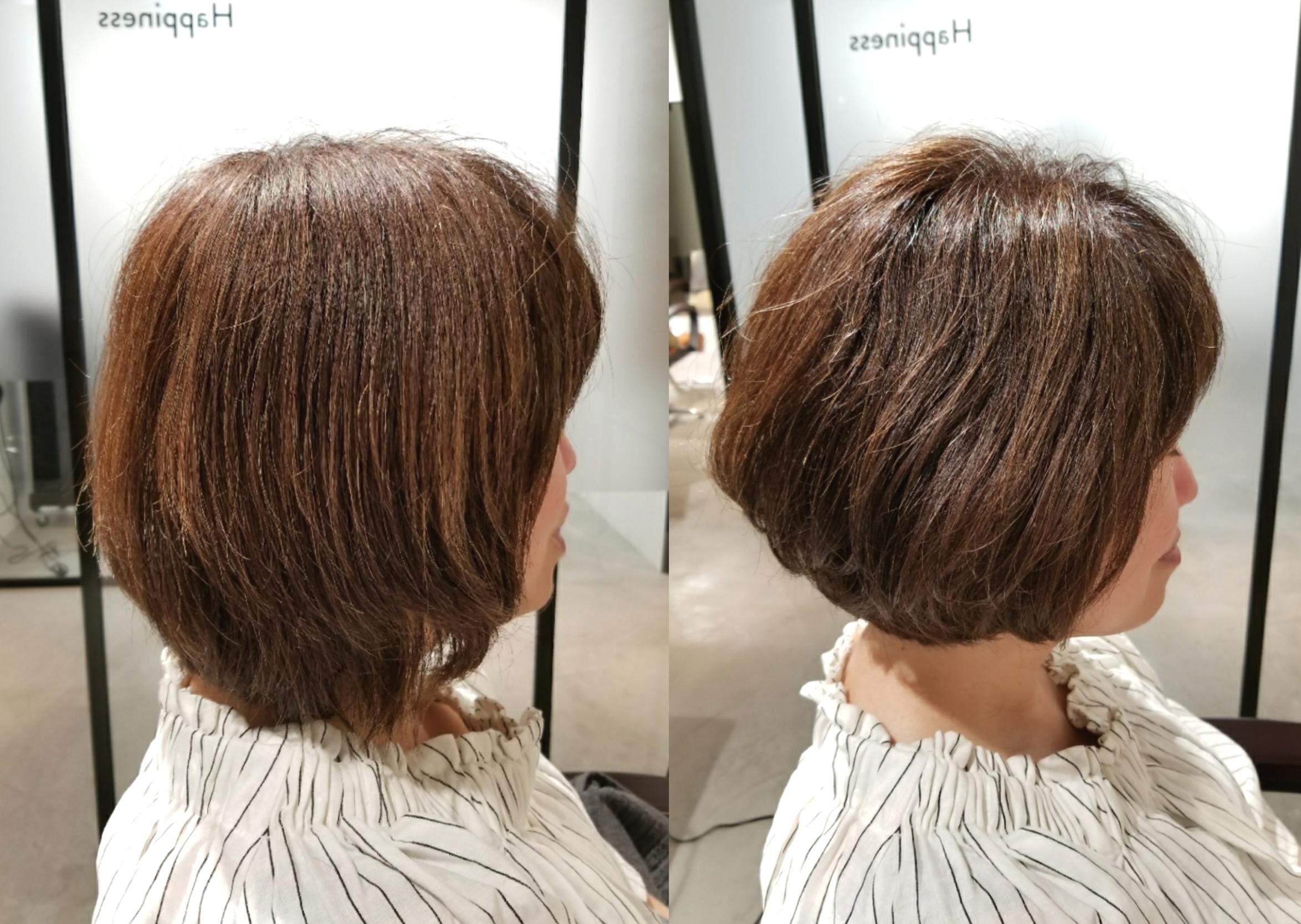 クセで広がりやすい髪質も、長さと重さの調整をして楽ちんに♪