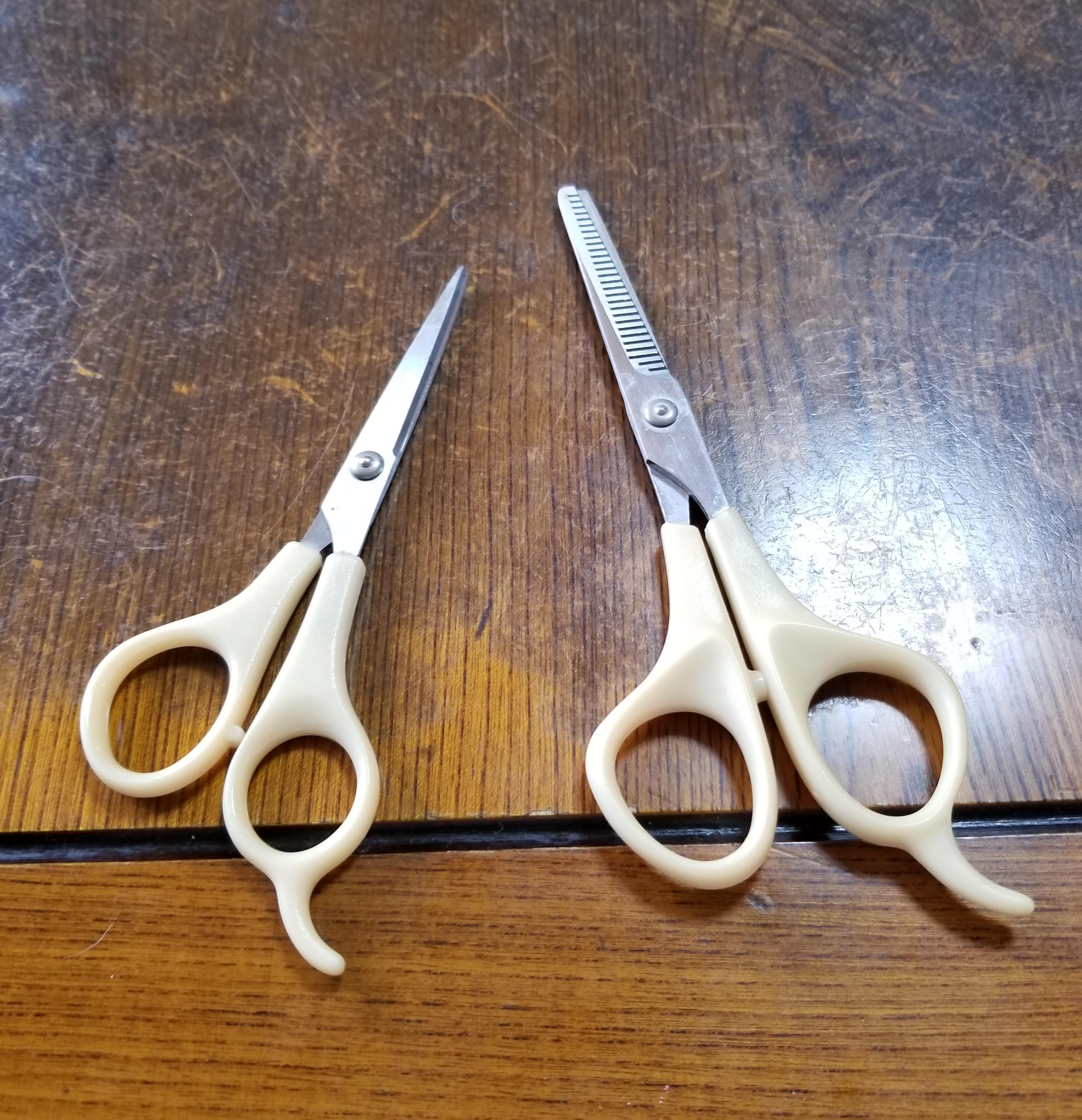いとこが持っていたハサミで、急遽おばの髪を切ってきました。