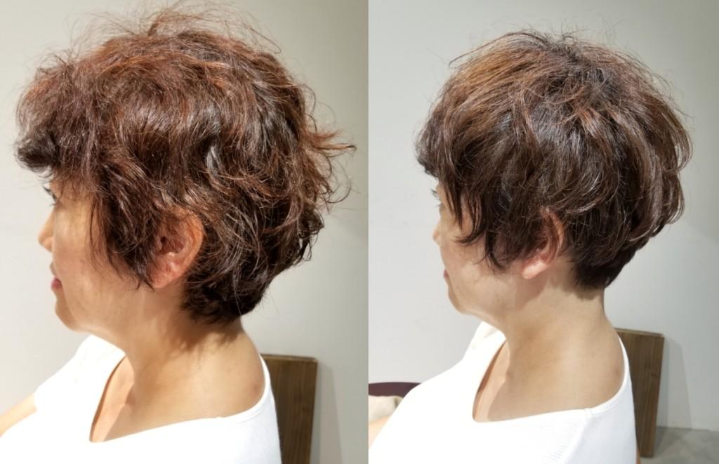 クセでパサつく髪にボリュームとツヤを出して、老けて見えないショートカット!