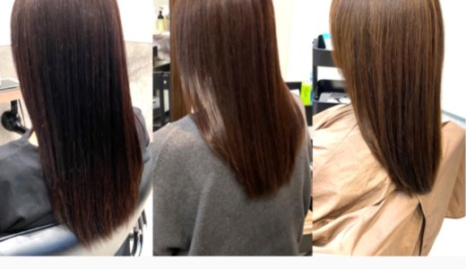 白髪染めで真っ黒に!ブリーチなしで白髪は染めつつ明るい髪色に直します!